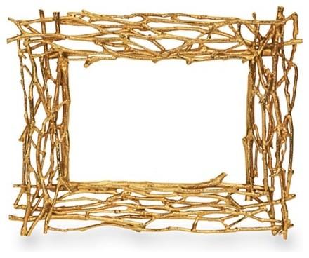 """Michael Aram """"Twig"""" Goldplate Frames contemporary-frames"""