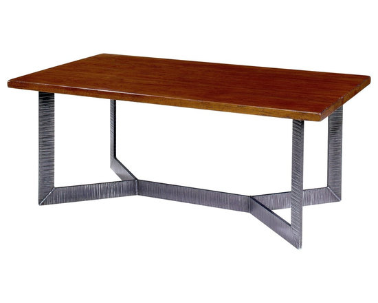 Wright Table Company - The No. WR 31 Cocktail Table X Base Shown in Cherry, Vintage Finish -
