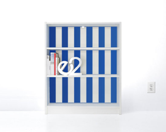 PANYL Malibu Thick Stripes for IKEA BILLY - Give your bookcase a bold new look with PANYL Thick Stripes. Easy to apply and no mess!