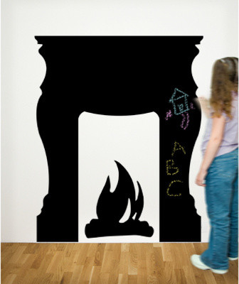 Chalkals Fireplace Wall Decal eclectic decals