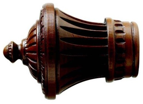 Kirsch 2 Inch Wood Trends Charleston Finial curtain-rods
