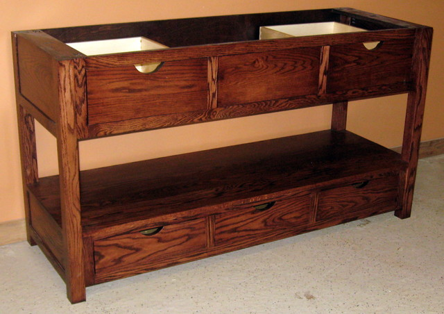 Mission style oak vanity traditional bathroom vanities and sink consoles minneapolis by for Mission style bathroom vanity
