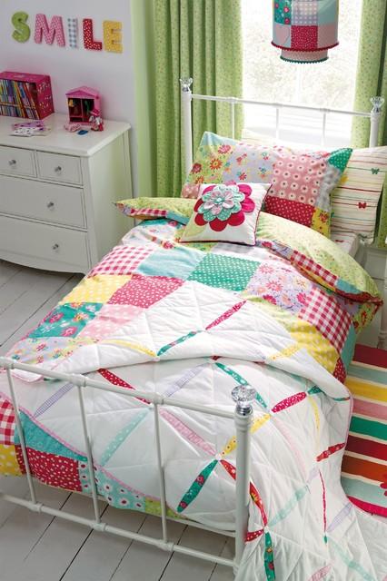 patchwork bed set modern children 39 s bedding by next. Black Bedroom Furniture Sets. Home Design Ideas