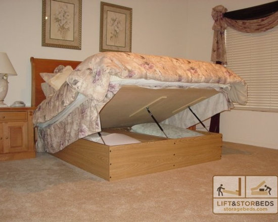 Platform Lift Storage Bed - Finally a place to put all that stuff taking up closet space!
