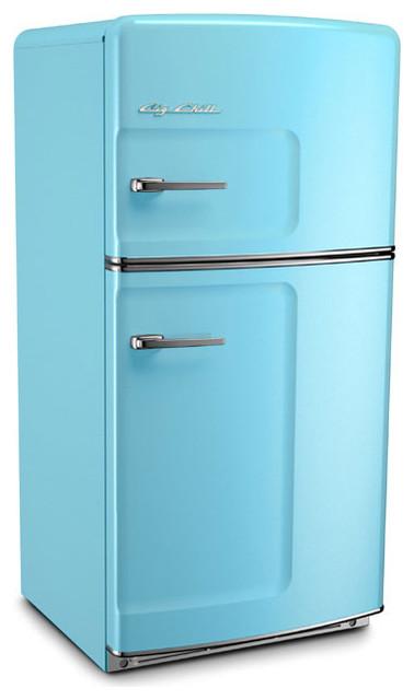 Retro Refrigerator, Beach Blue - Traditional - Refrigerators - by Big Chill