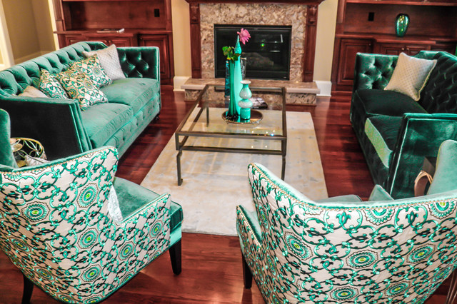 Emeralds and Sapphires contemporary-living-room