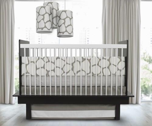 Cobblestone 3 Piece Crib Set in Taupe modern-crib-accessories