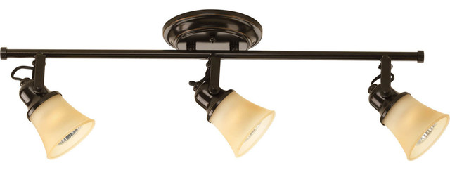 Progress Lighting P3332-20TWB 3-Light Bathroom Lighting transitional-track-lighting