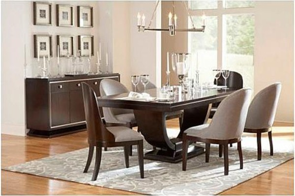 broyhill pinstripe dining pedestal table 8050 531sts