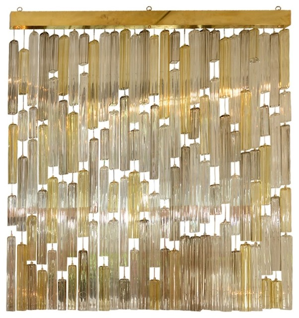 venini suspended murano glass elements screen modern