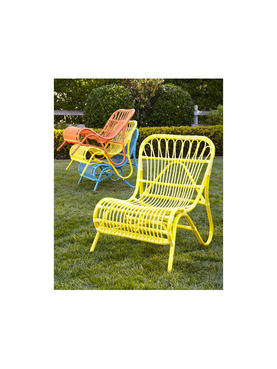 'Scoop' Side Chair - I love a lively color for the outdoors, and even more when it's in a fun retro shape. Put a pair of these chairs out for sipping lemonade, or keep some extras (they're stackable!) on hand for bigger gatherings.
