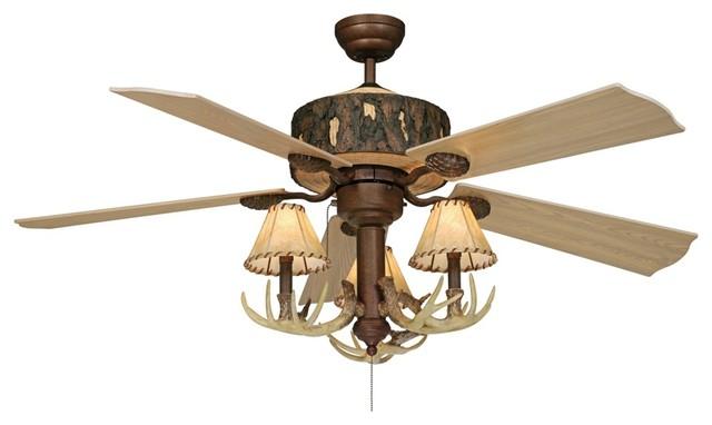 arts and crafts mission 52 vaxcel log cabin ceiling fan. Black Bedroom Furniture Sets. Home Design Ideas