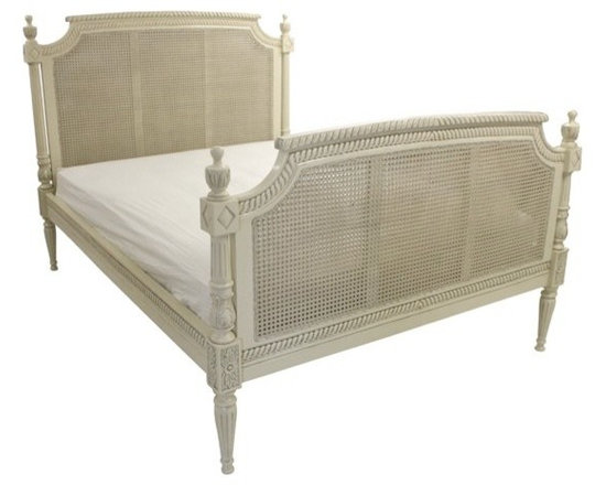 Chichi Furniture Exclusives. - This beautiful Rattan finished Ivory finished French bed is a simple yet stunning centerpiece.