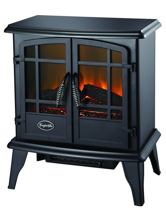 """The Keystone Electric Stove in Black - Dimensions: 21""""H x 22""""W x 12.4""""D"""
