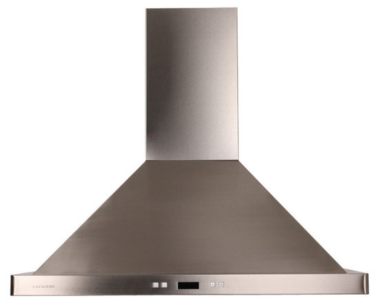 Cavaliere - Cavaliere-Euro SV218B2-I30 Stainless Steel Island Mount Range Hood - Cavaliere Stainless Steel 218W Island Mounted Range Hood with 6 Speeds, Timer Function, LCD Keypad, Aluminum Grease Filters, and Halogen Lights