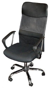 Emerald Home Office Chair with Mesh Cover - Black modern-office-chairs