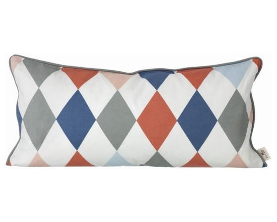 Ferm Living Organic Happy Harlequin Pillow - Only the best will do for the little ones, the playful Happy Harlequin Pillow is made of 100% organic cotton. To make the pillows nice and soft, they are filled with down.