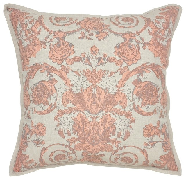 Villa Home Decorative Pillows : Pair of Aubry Apricot Pillows by Villa Home - Traditional - Decorative Pillows - by BSEID
