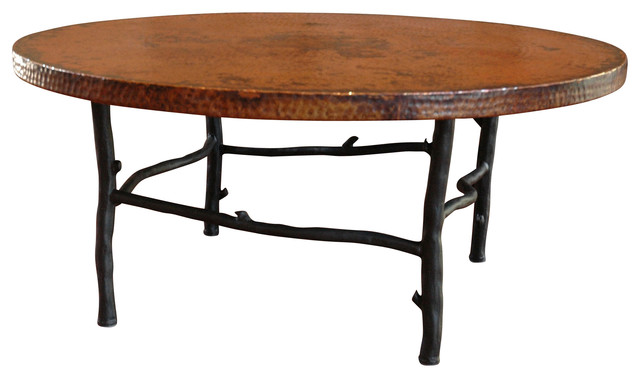 South Fork Coffee Table With 42 Round Top Craftsman Coffee Tables By Timeless Wrought Iron