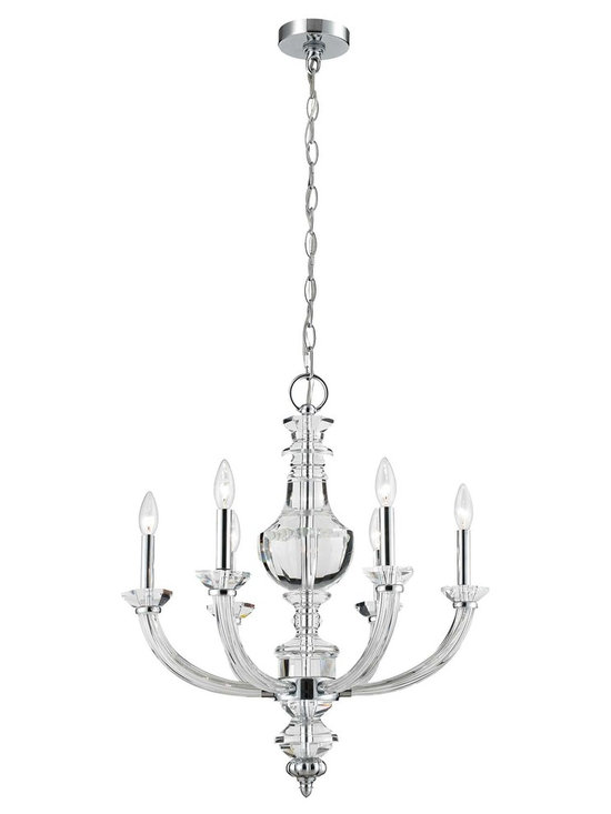 Elk Lighting 6-Light Chandelier in Chrome - Breathtaking, lovely, and so delightful; this Elk Lighting 6-Light Chandelier in Chrome. The Elk Collections blend the artistry of hand-blown glass, classics of today, and a traditional ambiance to bring you exciting, unique, and timeless creations.