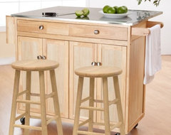 The Milano Portable Kitchen Island with Optional Stools contemporary kitchen islands and kitchen carts