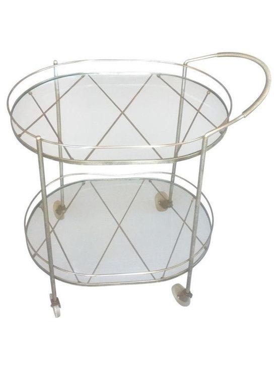 Mid-Century Silver Toned Bar Cart - $450 Est. Retail - $250 on Chairish.com -
