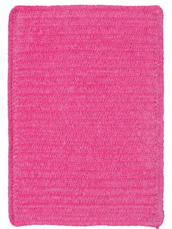 Chenille Creations rug in Hot Pink - Create a comfy, cozy, and custom-made braided rug with Capel's Chenille Creations.  Strands of plush, all-natural, ultra soft cotton chenille weave together to create a soft and vibrant room accent.