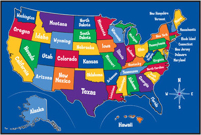 Learning Carpets US Map Carpet contemporary-kids-rugs