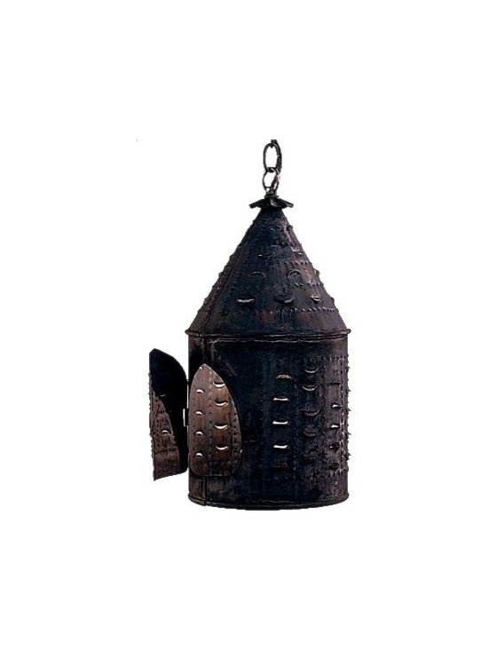 Lanternland - Colonial New England Birdhouse Hanging Lantern by Lanternland - The Colonial New England Birdhouse Pendant, shown in Dark Copper, is made in America from high quality brass and copper and is designed to last for decades. This classic colonial style works well with traditional and colonial style homes.