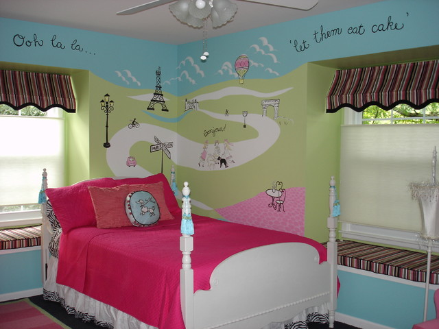 Child 39 s paris bedroom bedroom chicago by lmr designs for Room decor ideas paris
