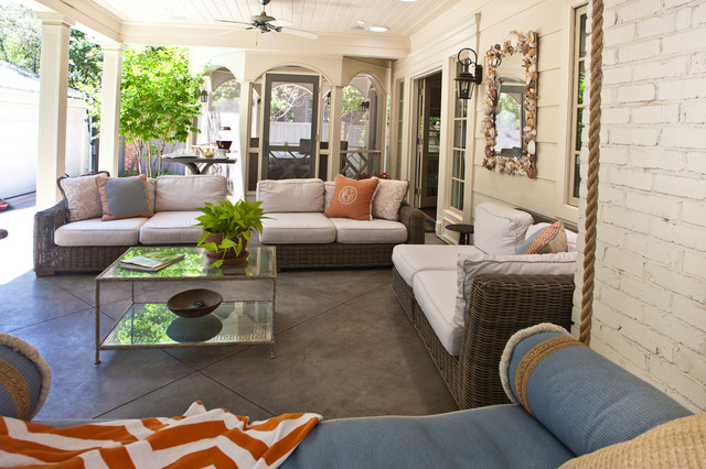 Living Spaces traditional-porch
