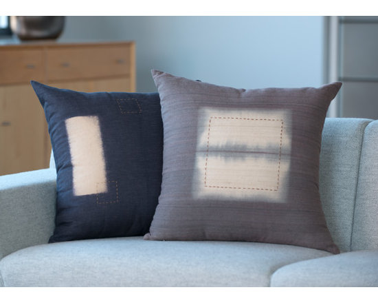 Hand Crafted Pillows - Hand dyed and embroidered silk and linen pillows. Photography by Sandra Stambaugh.