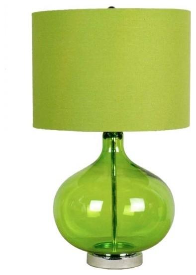 light green transparent glass table lamp modern table lamps. Black Bedroom Furniture Sets. Home Design Ideas