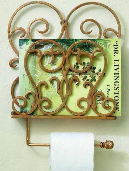Scroll Magazine Tissue/Towel Rack - Traditional - Towel Bars And Hooks - atlanta - by Iron Accents