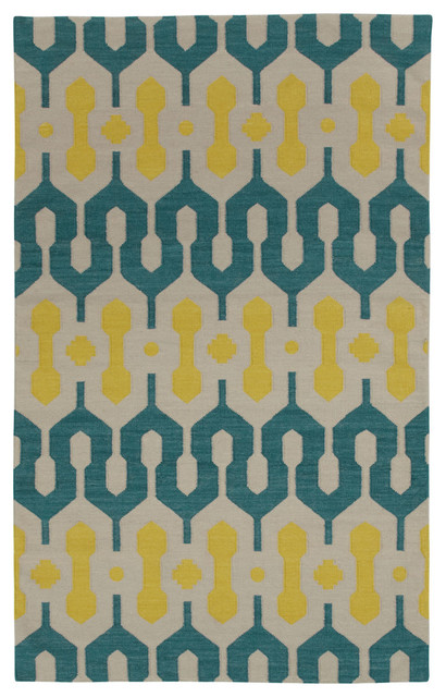 L'alhambra rug in Turquoise Leo Sun rugs