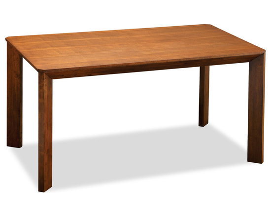 Bryght - Shane Cocoa Wood Dining Table - The Shane dining table's perfection lies in its solid straight lines that make it an ideal addition to any contemporary modern home. Its well crafted table top edges seamlessly meet its sturdy solid wood legs, creating a smooth flowing symmetrical design.