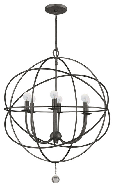 Solaris Modern 6-light Up Lighting Chandelier contemporary-chandeliers