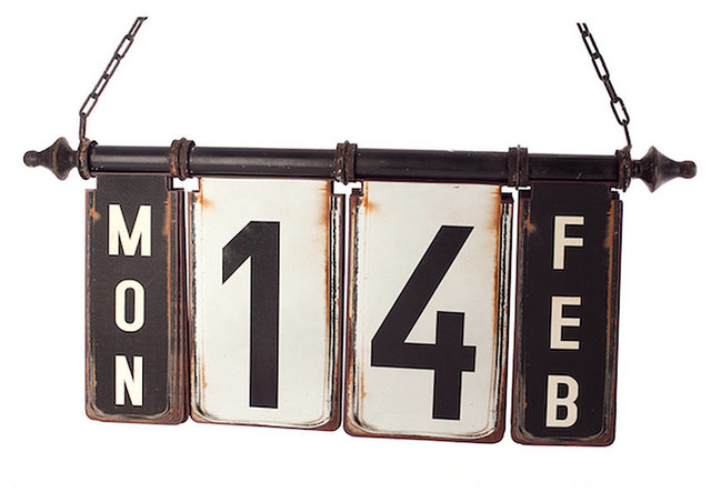 Hanging Perpetual Calendar - contemporary - artwork - by Not on
