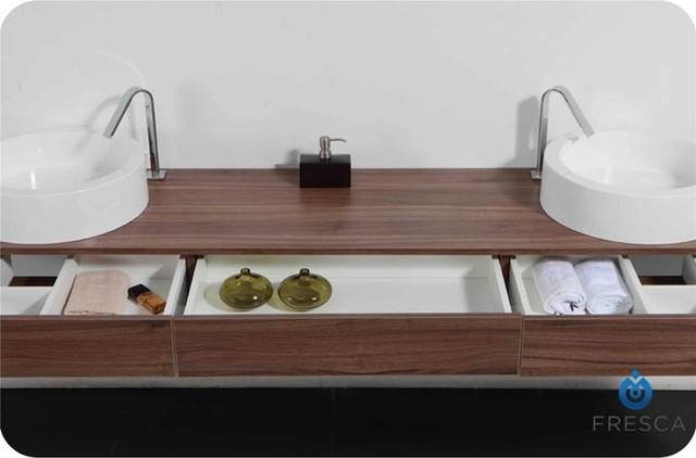 Fresca Rondes Double Sink Bathroom Vanity contemporary