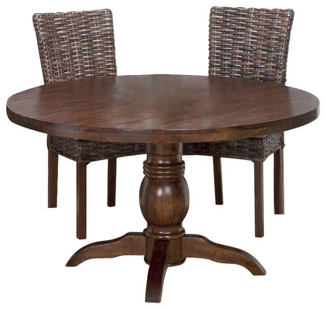 Jofran 733 52 urban lodge round pedestal dining table in for Round table 52 nordenham
