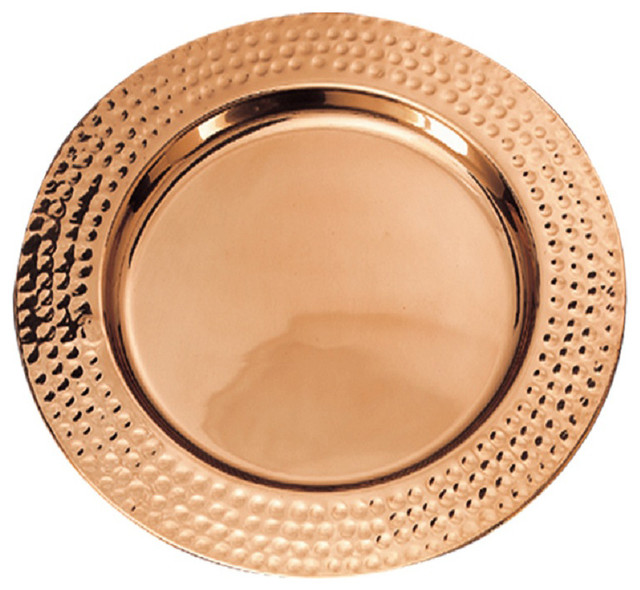 Copper Colored Charger Plates