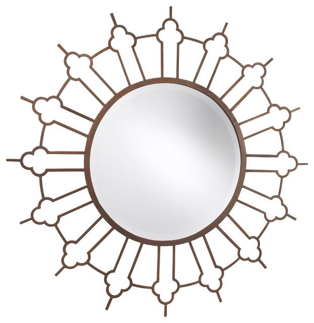 Marrakesh Mirror, Rough Rust mediterranean-wall-mirrors