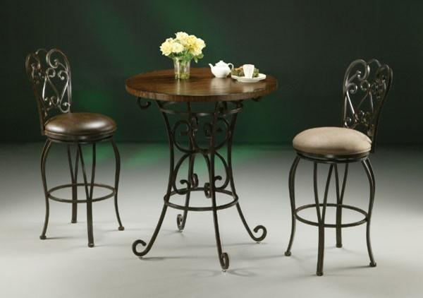 "Pastel Furniture - Magnolia 3 Piece 40"" Pub Table Set - MA520-477-MA222-3Set contemporary-dining-tables"