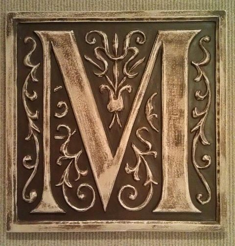 Monogram stone letter plaques outdoor decor boston by marie