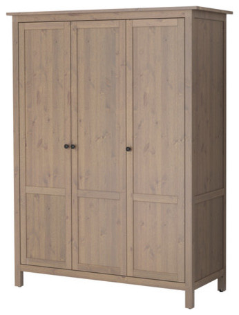 HEMNES Wardrobe with 3 doors modern-armoires-and-wardrobes