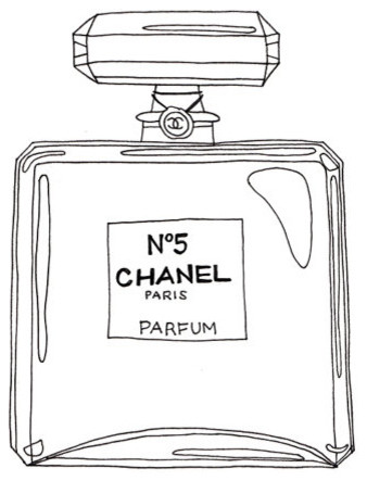 Chanel N5 Outline Mini Poster by Emma Kisstina modern-artwork