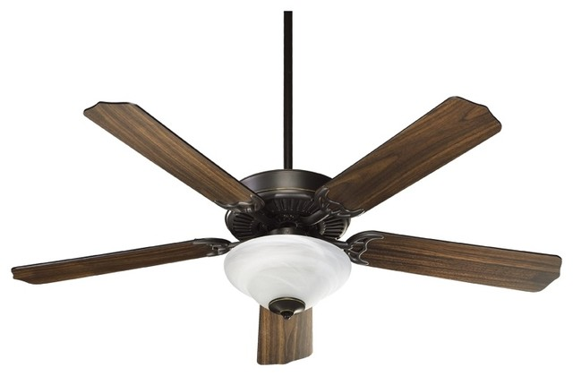 "Traditional 52"" Quorum Capri Oiled Bronze Ceiling Fan traditional ceiling fans"
