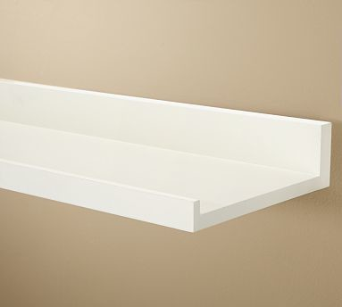 Holman Shelf, 4', Antique White traditional-display-and-wall-shelves