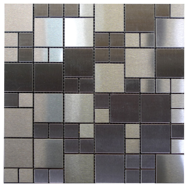 W35 modular stainless steel glass mosaic contemporary tile los angeles by newglasstiles com