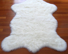 Snowy White Polar Bear Pelt contemporary kids rugs